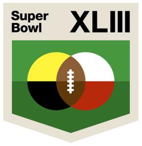 Aaron Draplin's Broad-Shouldered Super Bowl Logo Redesign
