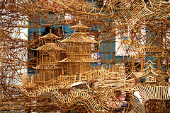A Portion of Scott Weaver's Huge Kinetic Toothpick Sculpture of San Francisco