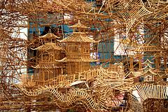 A Portion of Scott Weaver's Huge Kinetic Toothpick Sculpture of San Francisco